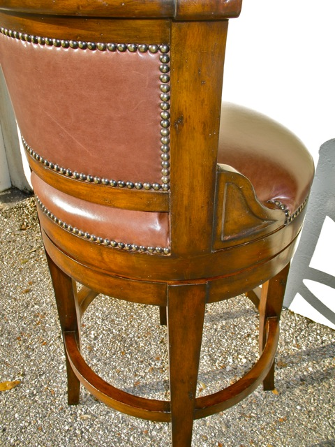 completely repaired barstool