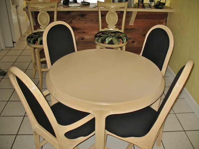 recovered and restored dining set