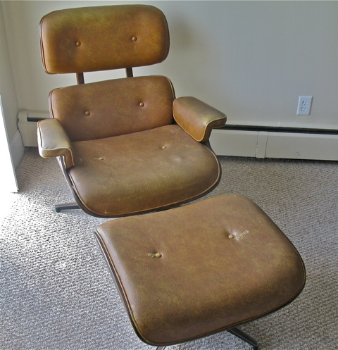 This Classic Eames Lounge Chair Had Aged, Worn Leather. Here It Is, With  Ottoman, As Received: