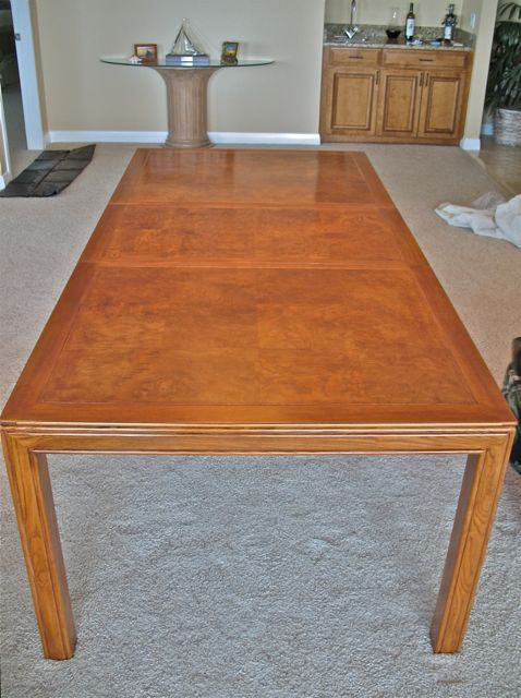 dining table refinished in natural color