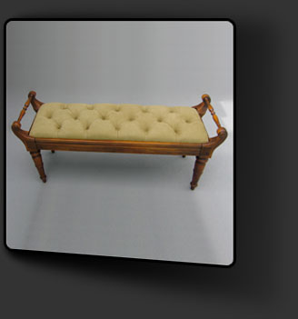 Reupholstered Bench